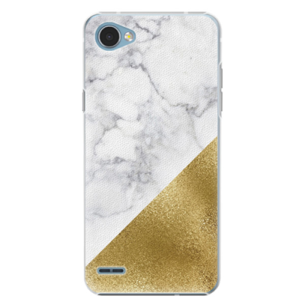 Plastové pouzdro iSaprio - Gold and WH Marble - LG Q6