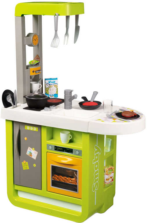 SMOBY Kuchyňka dětská Bon Appetit Cherry zeleno-žlutá na baterie Zvuk plast