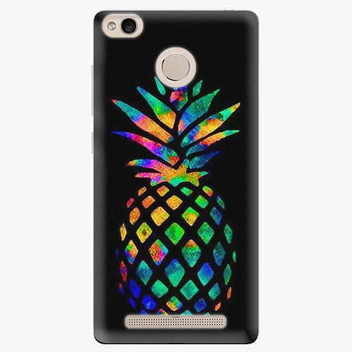 Plastový kryt iSaprio - Rainbow Pineapple - Xiaomi Redmi 3S