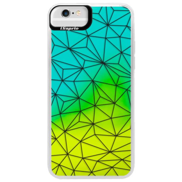 Neonové pouzdro Blue iSaprio - Abstract Triangles 03 - black - iPhone 6 Plus/6S Plus
