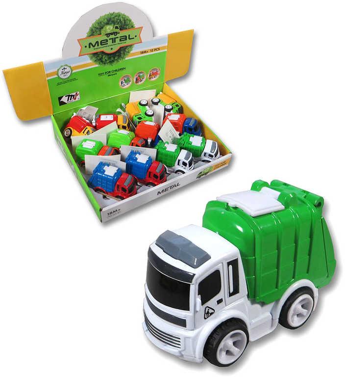 Auto funkční městské 9 cm baby popeláři / čisticí vůz / hasiči 3 druhy 2 barvy