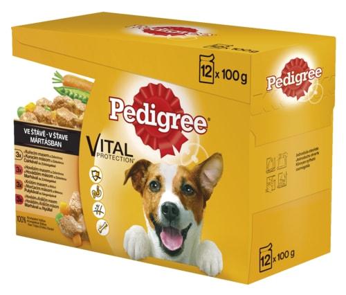 Pedigree kapsa 12pack hovězí/kuře/jehně/krůta /1200g