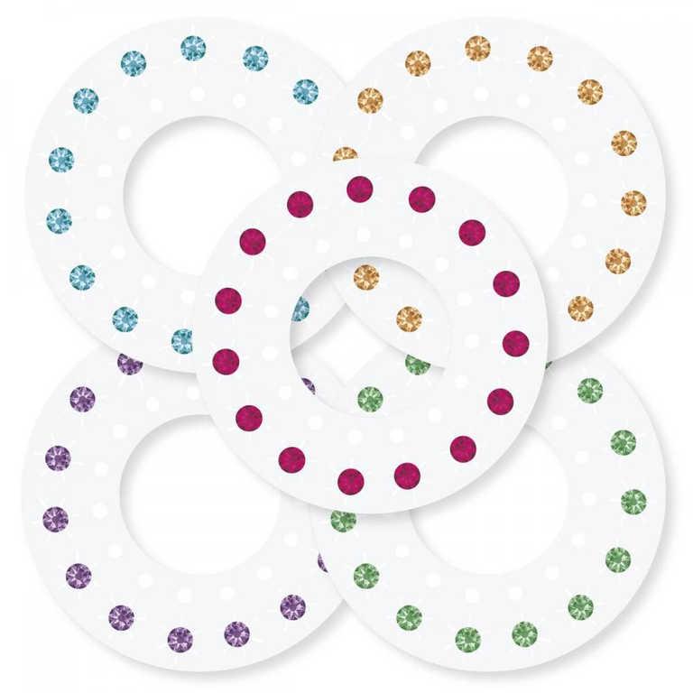 ADC Blinger zdobení diamanty náplň náhradní set 75 kamínků Barevné