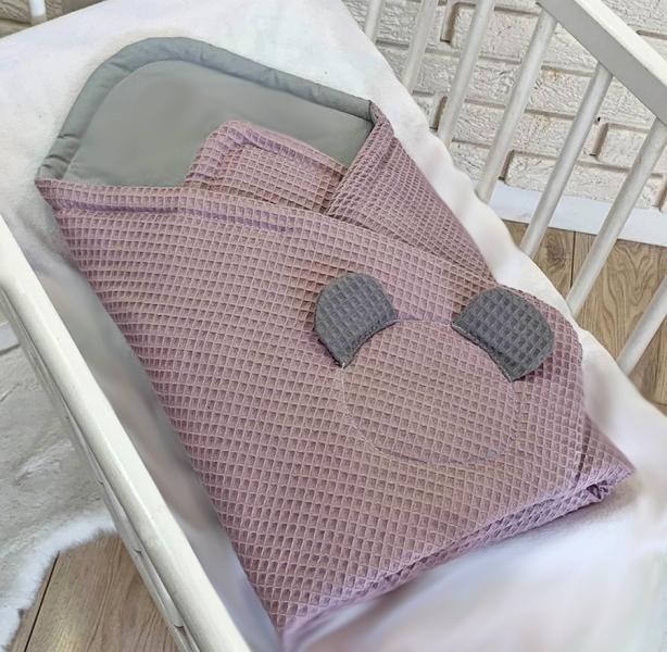 baby-nellys-luxusni-zavinovacka-vaflova-medvidek-75-x-75cm-ruzova