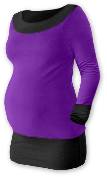 Těhotenska tunika DUO - fialová/černá