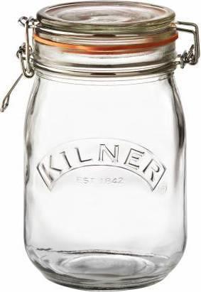 KILNER zavařovací sklenice s klipem kulatá 1l