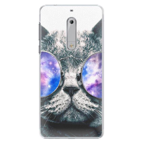 Plastové pouzdro iSaprio - Galaxy Cat - Nokia 5