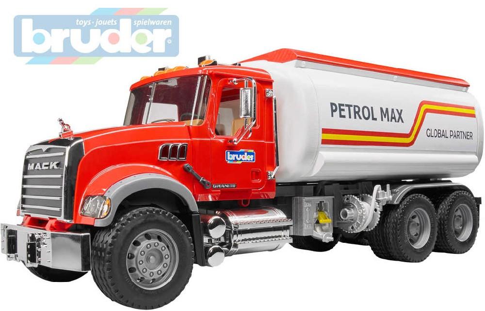BRUDER 02827 (2827) Nákladní auto MACK Granit citerna funkční model 1:16 plast