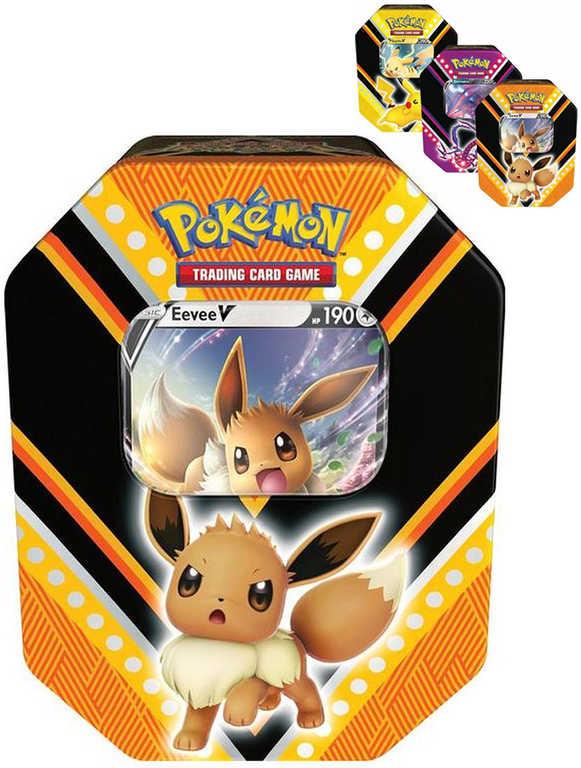 ADC Hra Pokémon TCG: V Power Tin 2020 set 4x booster + foliová karta