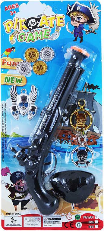 KARNEVAL Pirátská pistole set s doplňky na kartě KARNEVALOVÝ DOPLNĚK