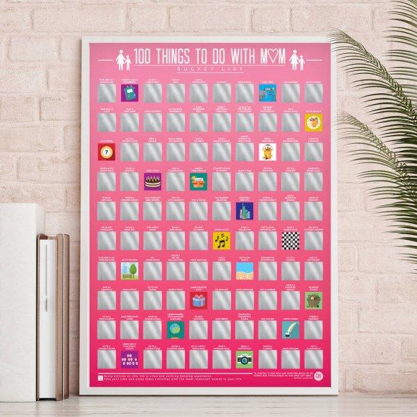 Stírací plakát - 100 věcí, co dělat s mámou