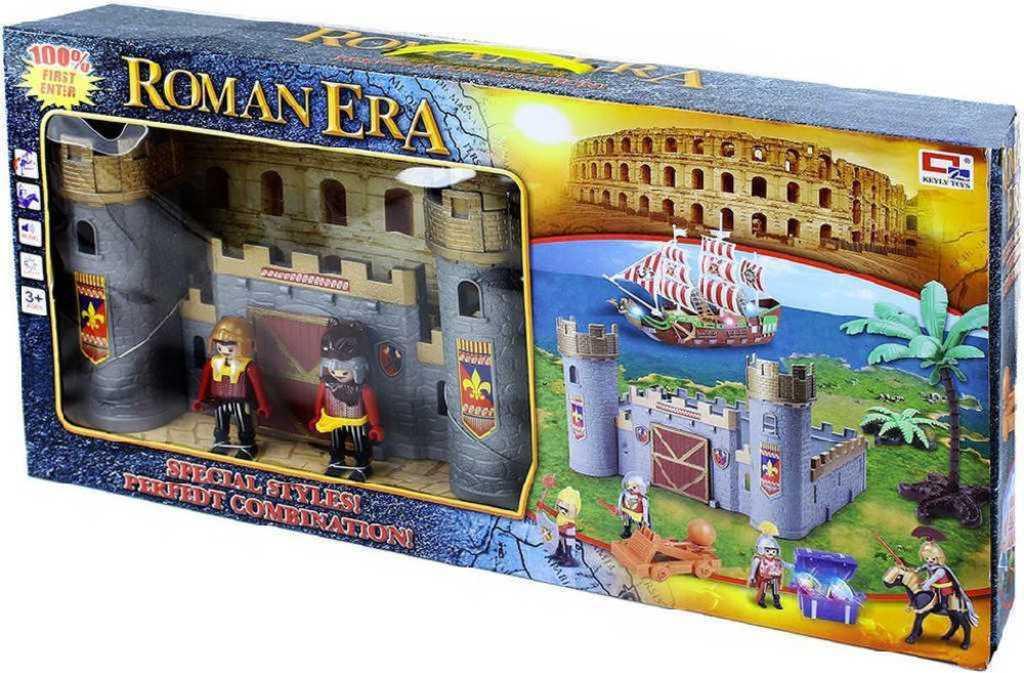 Hrad s rytíři velký herní set s příšlušenstvím plast v krabici