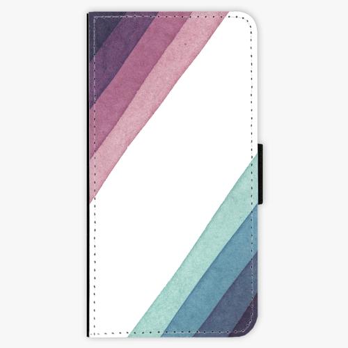 Flipové pouzdro iSaprio - Glitter Stripes 01 - Huawei Honor 9 Lite