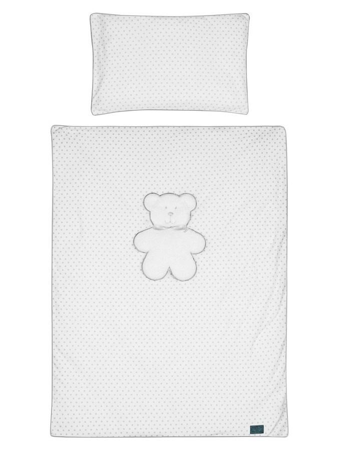 3-dílné ložní povlečení Belisima Bílý medvídek 90/120 - bílá