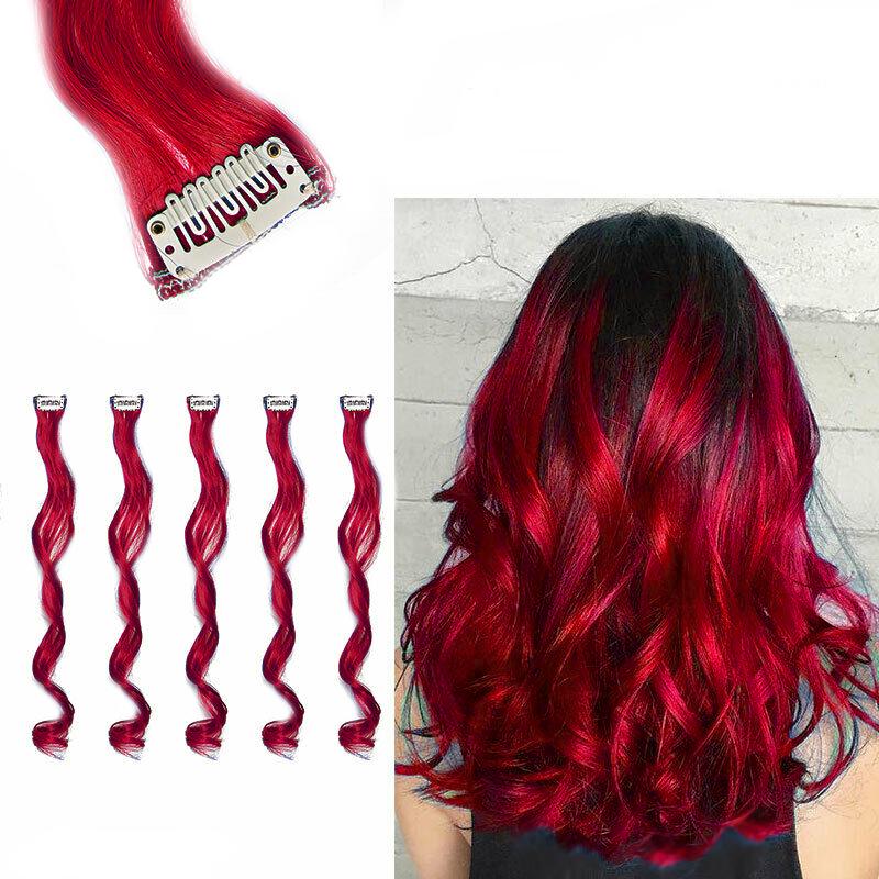 Barevné příčesky do vlasů - červené