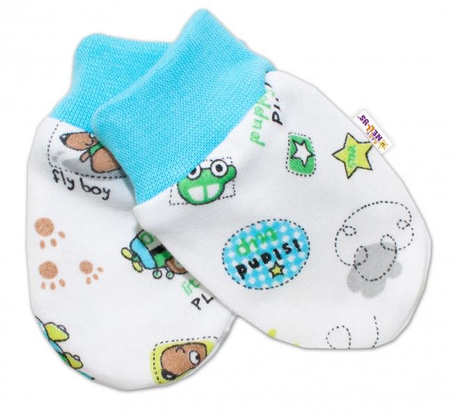 Kojenecké rukavičky Baby Nellys ® - Letadýlko - 56 (1-2m) /62 (2-3m)