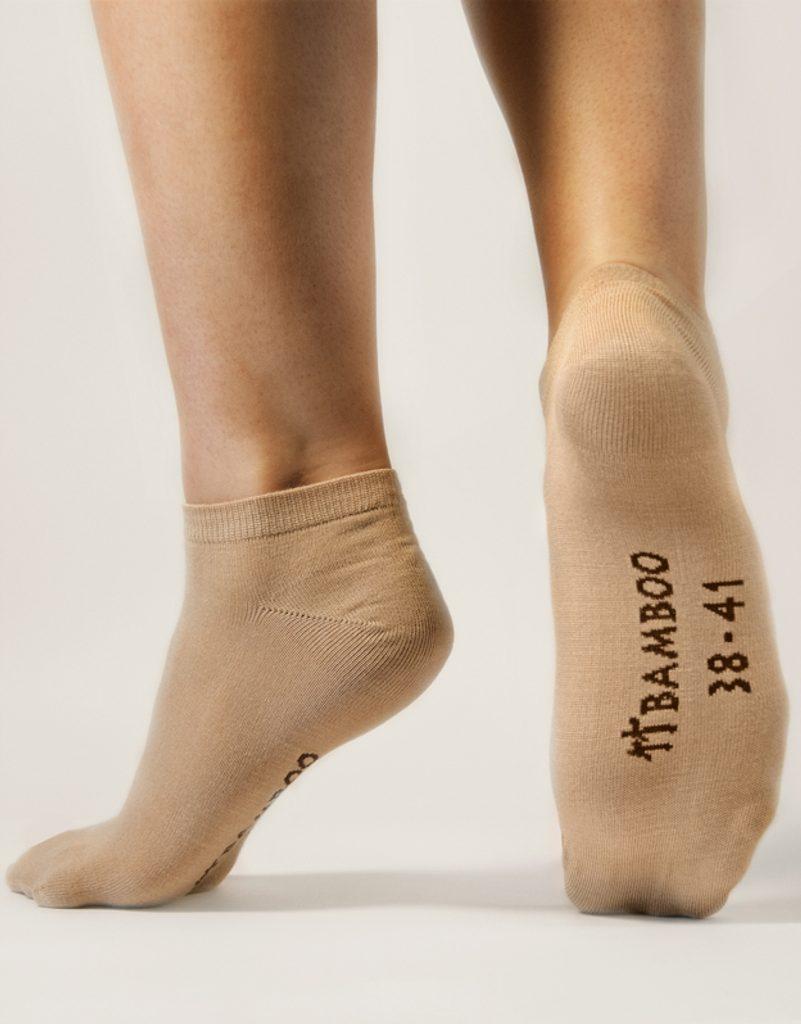 GINA dámské ponožky kotníčkové, bezešvé, jednobarevné Bambusové ponožky 82002P - bílá - 38/41