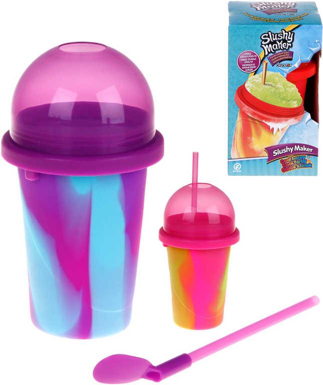 Slushy Maker výroba ledové tříště dětský shaker 4 barvy plast v krabici