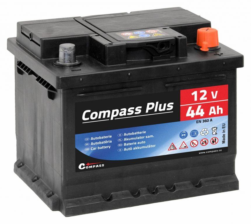 Compaas Autobaterie Plus - 12V, 44Ah, 360A
