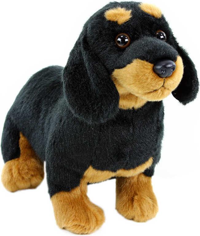 PLYŠ Pes jezevčík sedící 27 cm