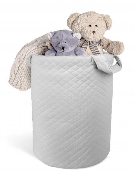 Box na hračky Velvet lux Miminu, prošívaný - šedý