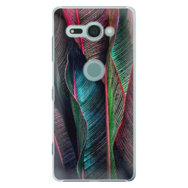 Plastové pouzdro iSaprio - Black Leaves - Sony Xperia XZ2 Compact