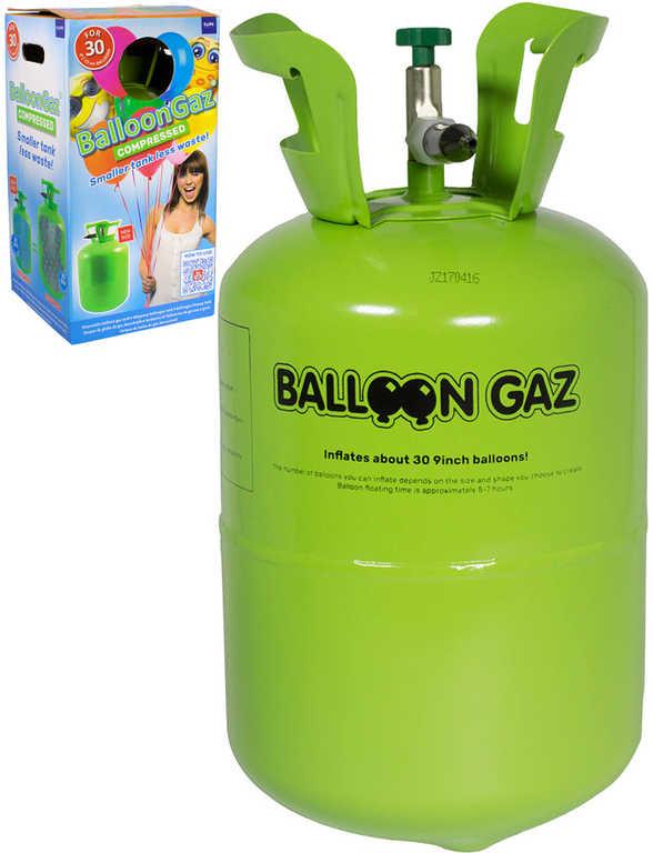 BalloonGaz Helium 250l jednorázové na plnění až 30ks nafukovacích balonků 23cm