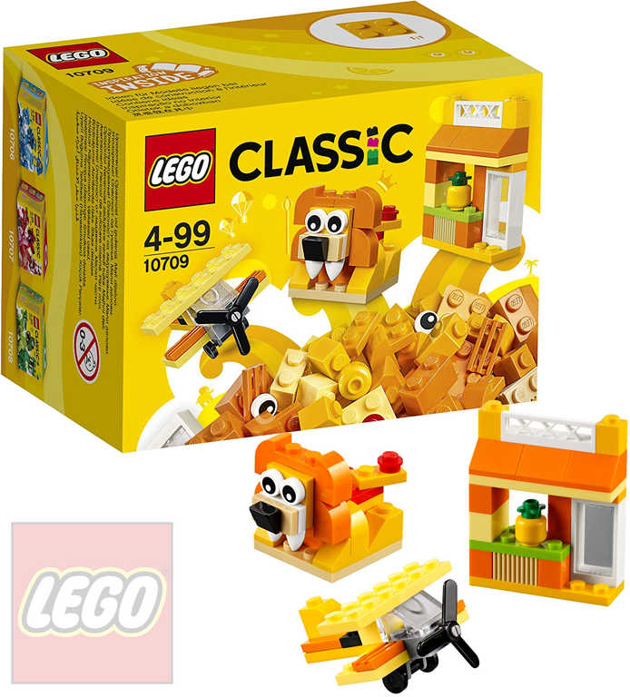 LEGO CLASSIC Oranžový kreativní box 10709 STAVEBNICE
