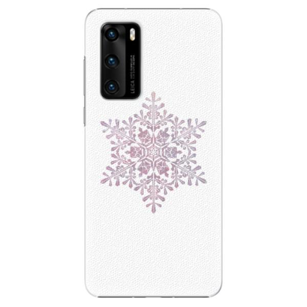 Plastové pouzdro iSaprio - Snow Flake - Huawei P40