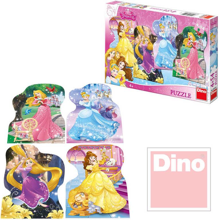 DINO Puzzle set 4v1 Disney hravé Princezny 54 dílků v krabici 13x19cm