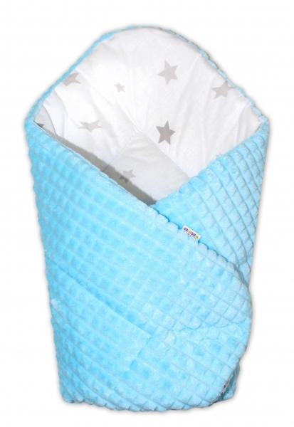 oboustranna-rychlozavinovacka-75x75cm-baby-nellys-hvezdicky-sede-minky-kosticka-modra