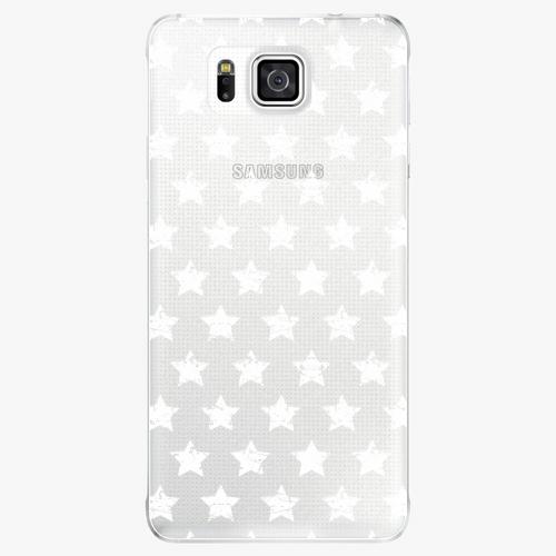 Plastový kryt iSaprio - Stars Pattern - white - Samsung Galaxy Alpha