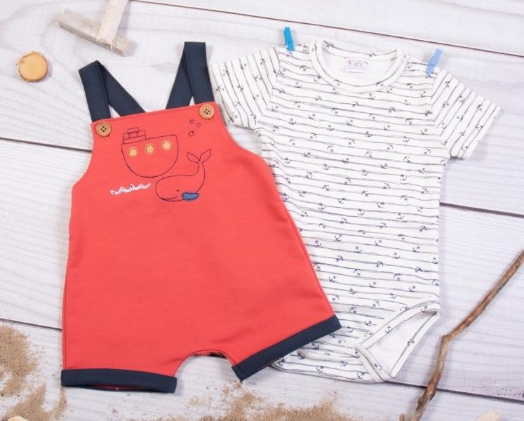 K-Baby 2-dílná dětská sada, body s kr. rukávem a lacláčky Holiday