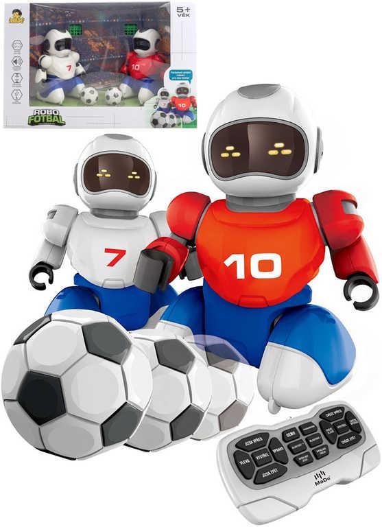 RC HRA Robofotbal set 2 roboti s míči a brankami na vysílačku USB Světlo Zvuk