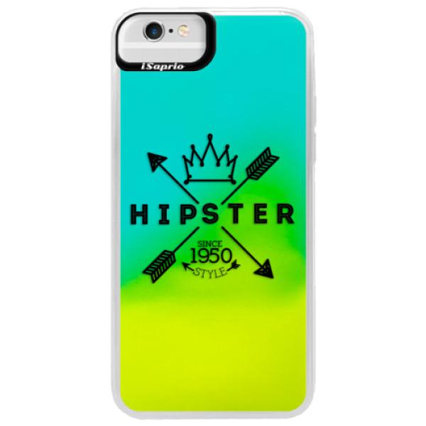 Neonové pouzdro Blue iSaprio - Hipster Style 02 - iPhone 6 Plus/6S Plus