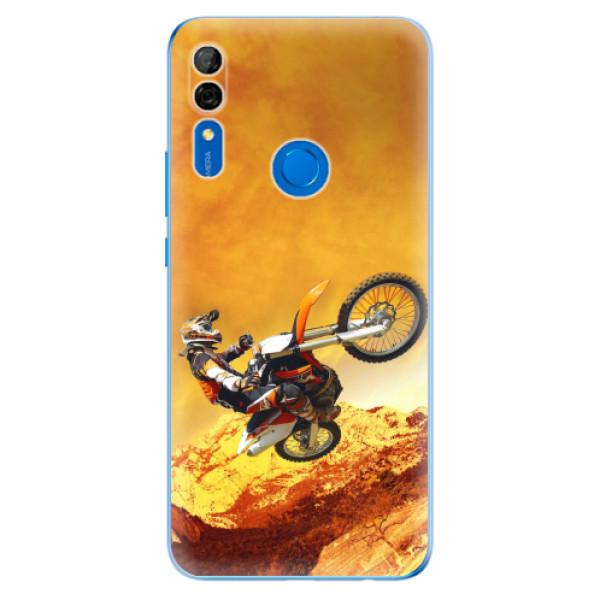 Odolné silikonové pouzdro iSaprio - Motocross - Huawei P Smart Z
