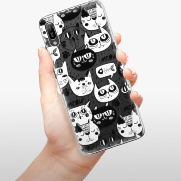 Plastové pouzdro iSaprio - Cat pattern 03 - Huawei Y6 2019