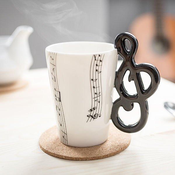 Hudební hrnek - Houslový klíč