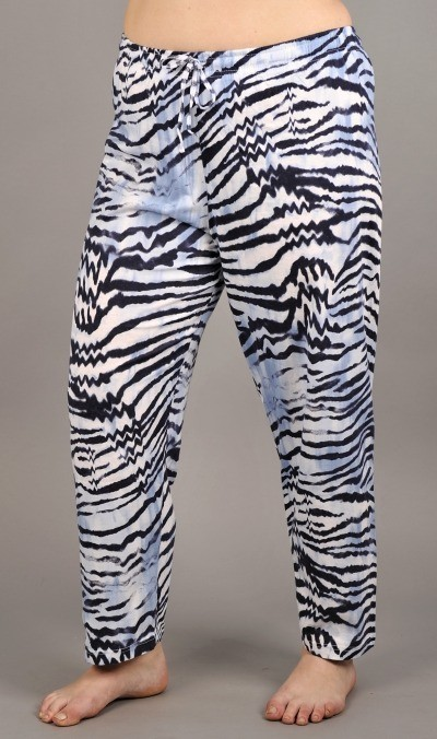 Dámské pyžamové kalhoty Tygr 4311 - Vienetta - Modro-bílá/XL