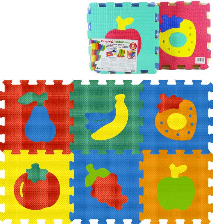 Baby koberec (pěnové puzzle na zem) ovoce, zelenina měkké bloky set 6ks