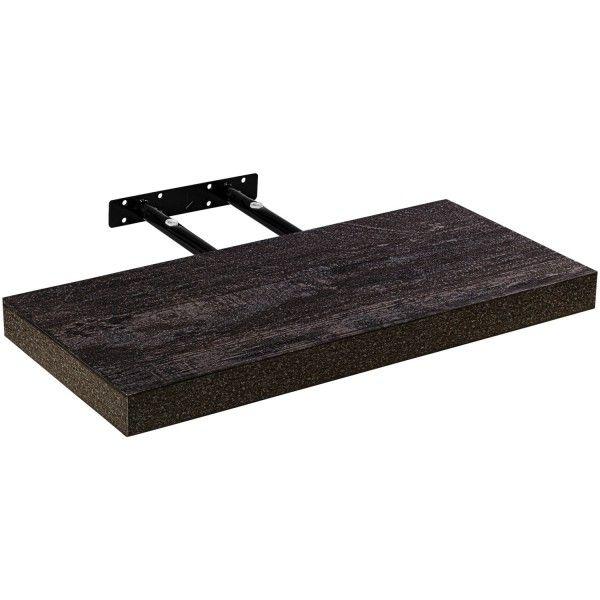 Stilista nástěnná police Volato, 40 cm, tmavé dřevo