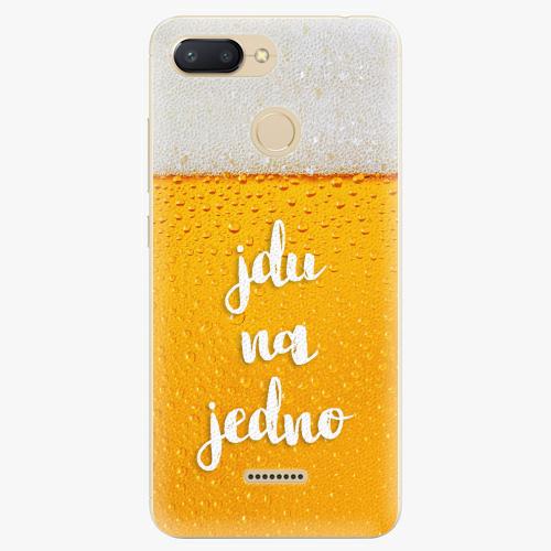 Silikonové pouzdro iSaprio - Jdu na jedno - Xiaomi Redmi 6