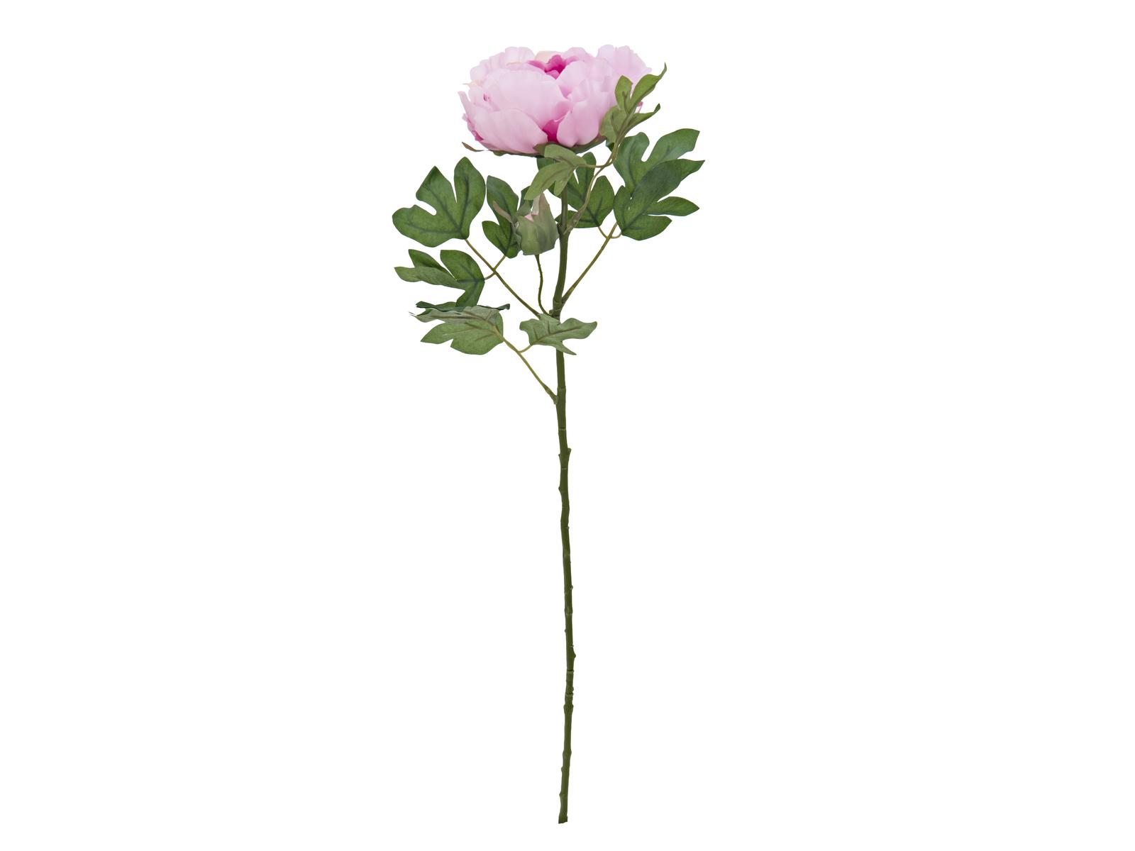 Europalms klasická Pivoňka větvička, umělá rostlina, růžová, 80cm