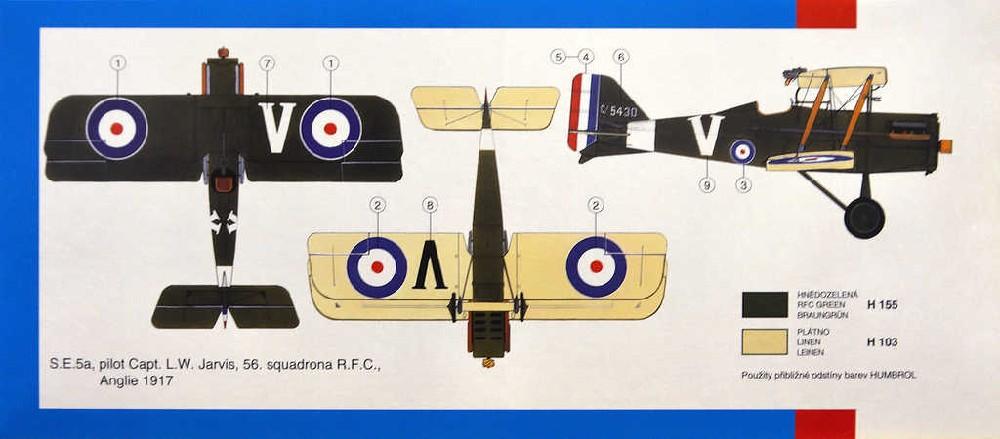 SMĚR Model letadlo R.A.F.SE 5a Scout 1:48 (stavebnice letadla)