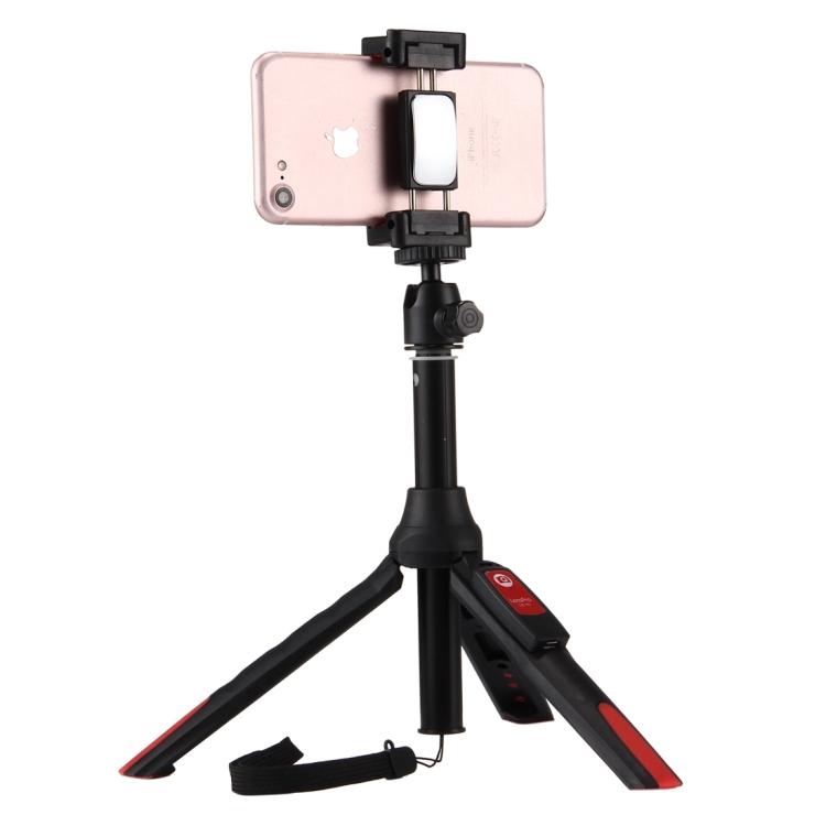 Multifunkční selfie tyč kombinovaná s tripodem a dálkovým ovládáním