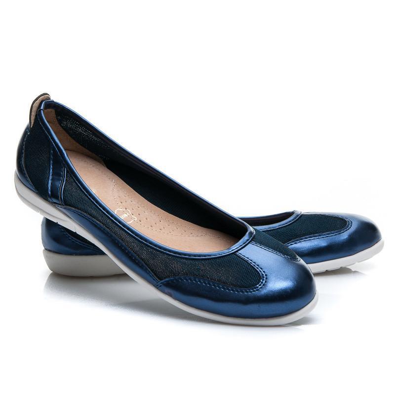 Dámské baleríny Y607N / S2 - Vices - Tmavě modrá/38