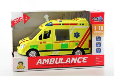 Ambulance se světlem a zvukem