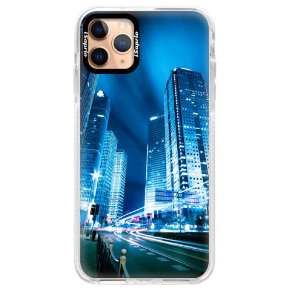 Silikonové pouzdro Bumper iSaprio - Night City Blue - iPhone 11 Pro Max