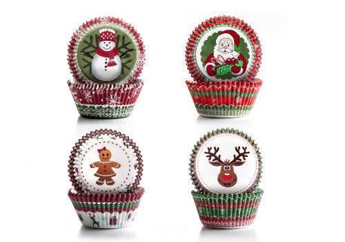 Cukrářské košíčky - vánoční set 100ks
