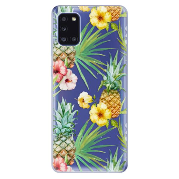 Odolné silikonové pouzdro iSaprio - Pineapple Pattern 02 - Samsung Galaxy A31